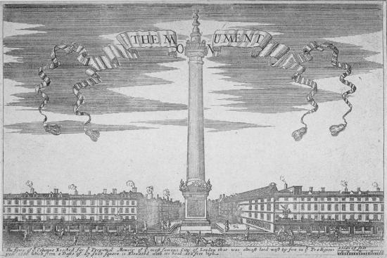 The Monument, City of London, 1700--Giclee Print