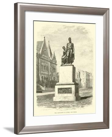 The Monument to Burke and Wills--Framed Giclee Print