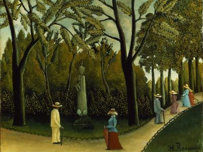 The Monument to Chopin in the Luxembourg Gardens, 1909-Henri Rousseau-Giclee Print