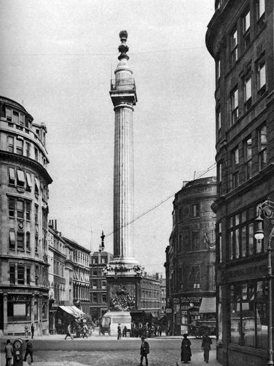The Monument to the Great Fire, London, 1926-1927-McLeish-Giclee Print