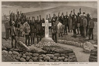 The Monument to the Prince Imperial in Zululand-Joseph Nash-Giclee Print