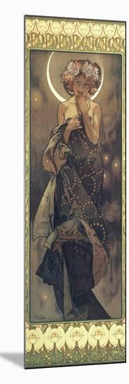 The Moon and the Stars: The Moon, 1902-Alphonse Mucha-Mounted Giclee Print