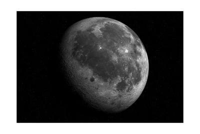 The Moon From Space-Detlev Van Ravenswaay-Giclee Print