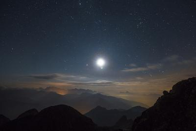 The Moon over Pala from the Peak of Cima D'Asta-Ulla Lohmann-Photographic Print