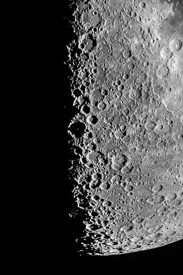 The Moon Seen Through a Telescope with Numerous Craters Along the Lunar Terminator-Babak Tafreshi-Photographic Print