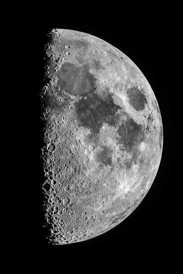 The Moon Seen Through a Telescope with the Lunar Terminator, or Day-Night Line-Babak Tafreshi-Photographic Print