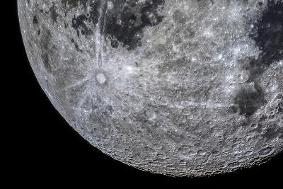 The Moon Through a Telescope with Features in the Southern Highland Region-Babak Tafreshi-Photographic Print