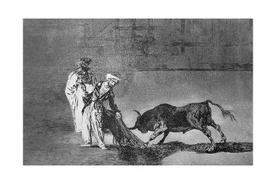 The Moors Make a Different Play in the Ring with their Burnous-Francisco de Goya-Giclee Print