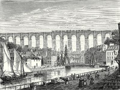 The Morlaix Viaduct on the Paris to Brest Railway Line--Giclee Print