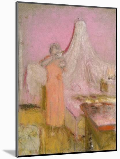 The Morning Cup of Tea. La Tasse De the Du Matin-Edouard Vuillard-Mounted Premium Giclee Print