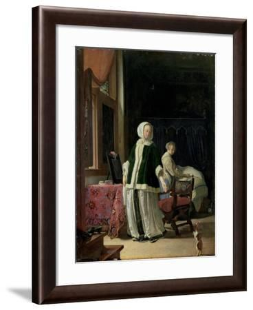 The Morning Toilet of a Young Lady-Frans Van Mieris-Framed Giclee Print