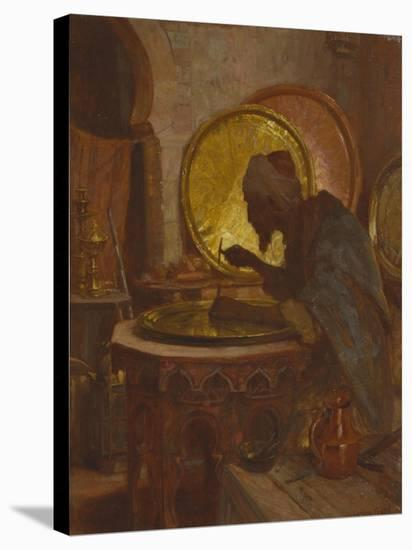 The Moroccan Engraver-Gordon Coutts-Stretched Canvas Print