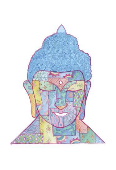 The Mosaic Buddha-Pam Varacek-Art Print