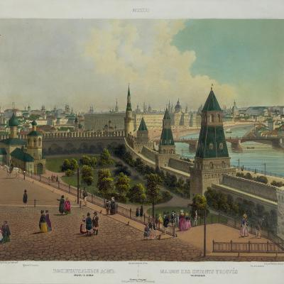 The Moscow Orphanage (From a Panoramic View of Moscow in 10 Part), Ca 1848-Philippe Benoist-Giclee Print
