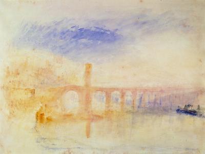 The Moselle Bridge, Coblenz, C.1842 (W/C and Graphite on Paper)-J^ M^ W^ Turner-Giclee Print