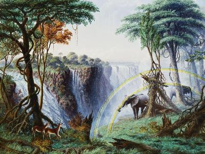 The Mosi-Oa-Tunya (The Smoke That Thunders) or Victoria Falls, Zambesi River-Thomas Baines-Giclee Print
