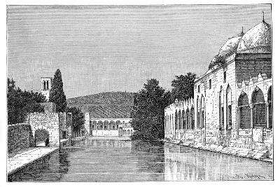 The Mosque and Fountain of Abraham, Ofra (At Tayyiba), West Bank, Israel, 1895-Armand Kohl-Giclee Print