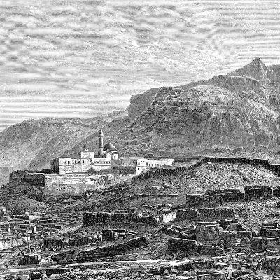 The Mosque and the Ruined Quarter of Bayazid (Dogubayazi), Turkey, 1895--Giclee Print