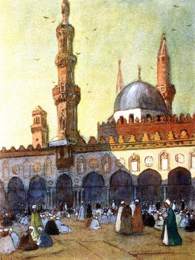 The Mosque of Al-Azhar, Cairo, Egypt, 1928-Louis Cabanes-Giclee Print
