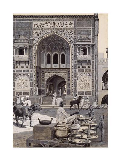 The Mosque of Nazir Khan, Lahore, C.1890-Harry Hamilton Johnston-Giclee Print