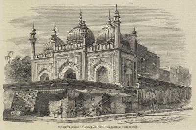 The Mosque of Roshun-A-Dowlah, and Part of the Principal Street of Delhi-Richard Principal Leitch-Giclee Print