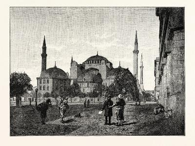 The Mosque of Santa Sophia Constantinople Istanbul--Giclee Print