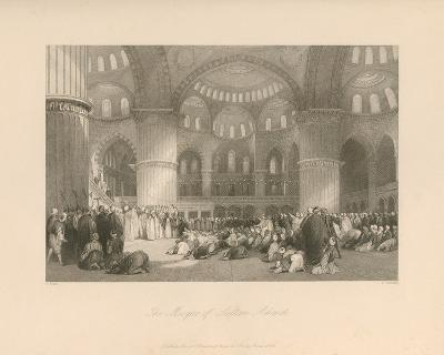 The Mosque of Sultan Achmet-Thomas Allom-Premium Giclee Print