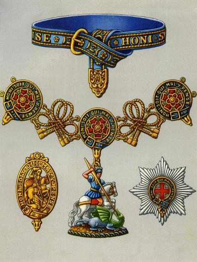 The Most Noble Order of the Garter, 1941--Giclee Print