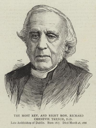 The Most Reverend and Right Honourable Richard Chenevix Trench--Giclee Print