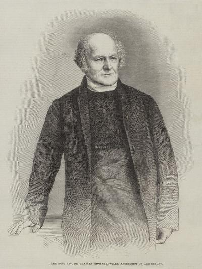 The Most Reverend Dr Charles Thomas Longley, Archbishop of Canterbury--Giclee Print