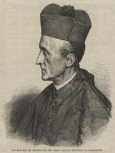 The Most Reverend Dr Manning, the New Roman Catholic Archbishop of Westminster--Giclee Print