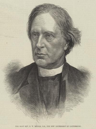 The Most Reverend E W Benson, Dd, the New Archbishop of Canterbury--Giclee Print