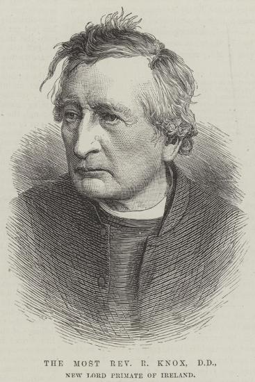 The Most Reverend R Knox, Dd, New Lord Primate of Ireland--Giclee Print