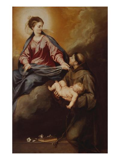 The Mother of God Appearing to St. Anthony. Between 1645 and 1652-Alonso Cano-Giclee Print