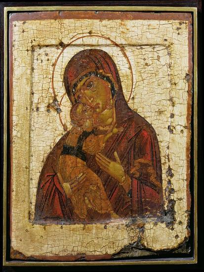 The Mother of God of Vladimir, Russian Icon, Pskov School,Late 15th Century--Giclee Print