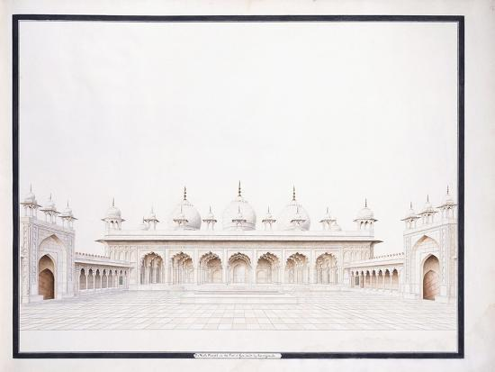 The Moti Musjid in the Fort of Agra, C. 1815--Giclee Print