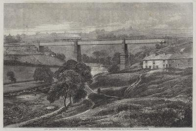 The Mottram Viaduct on the Manchester, Sheffield, and Lincolnshire Railway-Richard Principal Leitch-Giclee Print