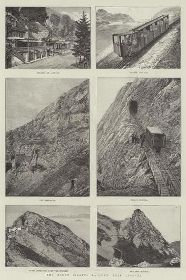The Mount Pilatus Railway, Near Lucerne--Giclee Print