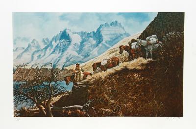 The Mountain Man of Salmon River-Cecil Smith-Collectable Print