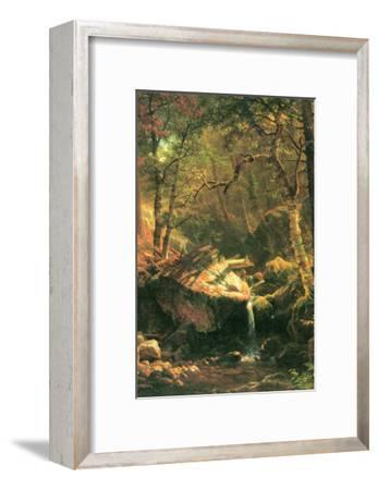 The Mountain-Albert Bierstadt-Framed Art Print