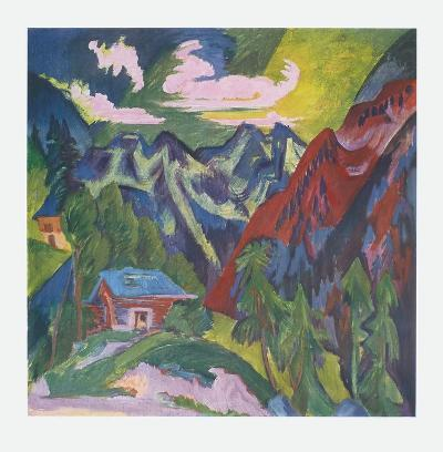 The Mountains at Klosters, Switzerland-Ernst Ludwig Kirchner-Collectable Print