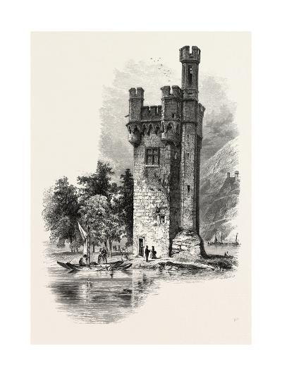 The Mouse Tower, Mauseturminsel, the Rhine, Germany, 19th Century--Giclee Print