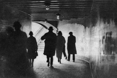 The Mouth of a Thames-Side Subway, London, 1926-1927--Giclee Print