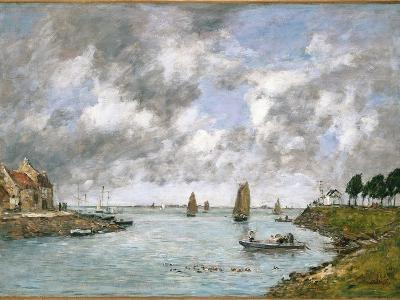 The Mouth of the River Somme, St. Valery-Sur-Somme, 1891-Eug?ne Boudin-Giclee Print