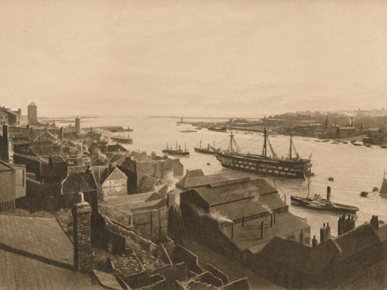 'The Mouth of the Tyne', 1902-Unknown-Photographic Print