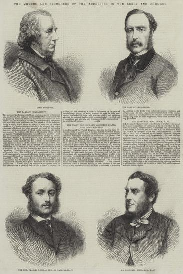 The Movers and Seconders of the Addresses in the Lords and Commons--Giclee Print