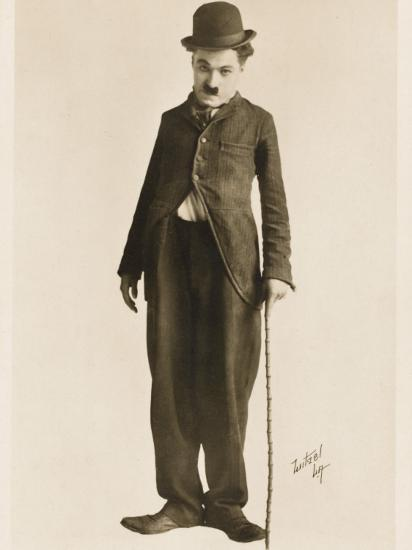 The Movie Legend Charlie Chaplin in Classic Pose--Photographic Print