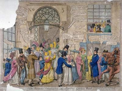 The Moving Panorama, or Spring Garden Rout..., 1823--Giclee Print