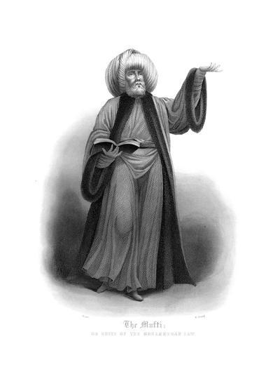 The Mufti, Chief of Mohammedan Law-James Gardner-Giclee Print