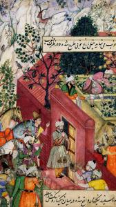 The Mughal Emperor Babur About to Oversea the Laying out of a Garden, Using Lines